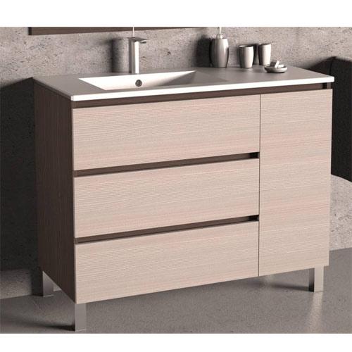 3cajonespuerta - Muebles de baño con patas