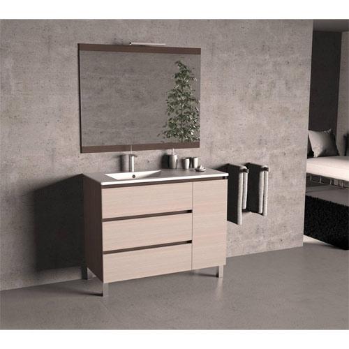 3cajonespuerta2 - Muebles de baño con patas