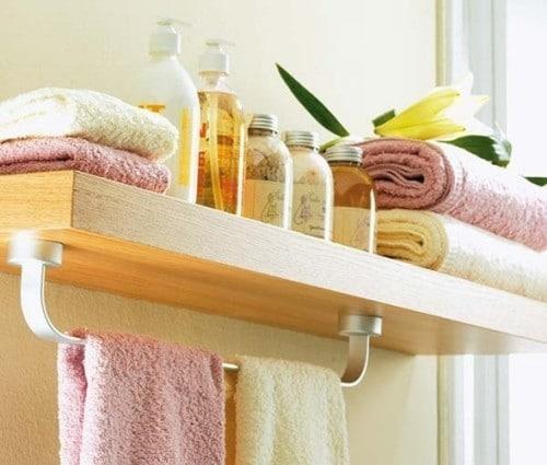 decoración estante baño 500x425 - ¿Cómo organizar tu baño?