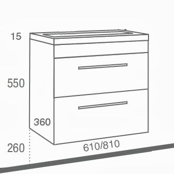medidas mueble de baño fondo 35 reducido especial