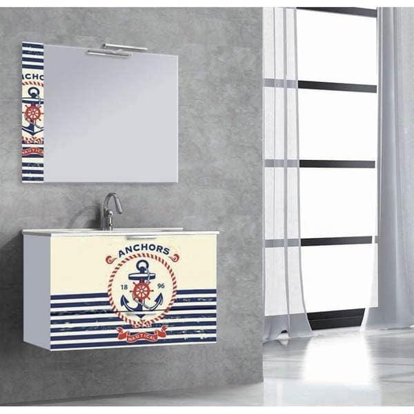 moonbath marine3 - Decoración de lavabos para un apartamento en la playa