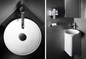 mueble bano esquina 300x208 - Lavabos decorados: un toque de distinción a nuestro cuarto de baño