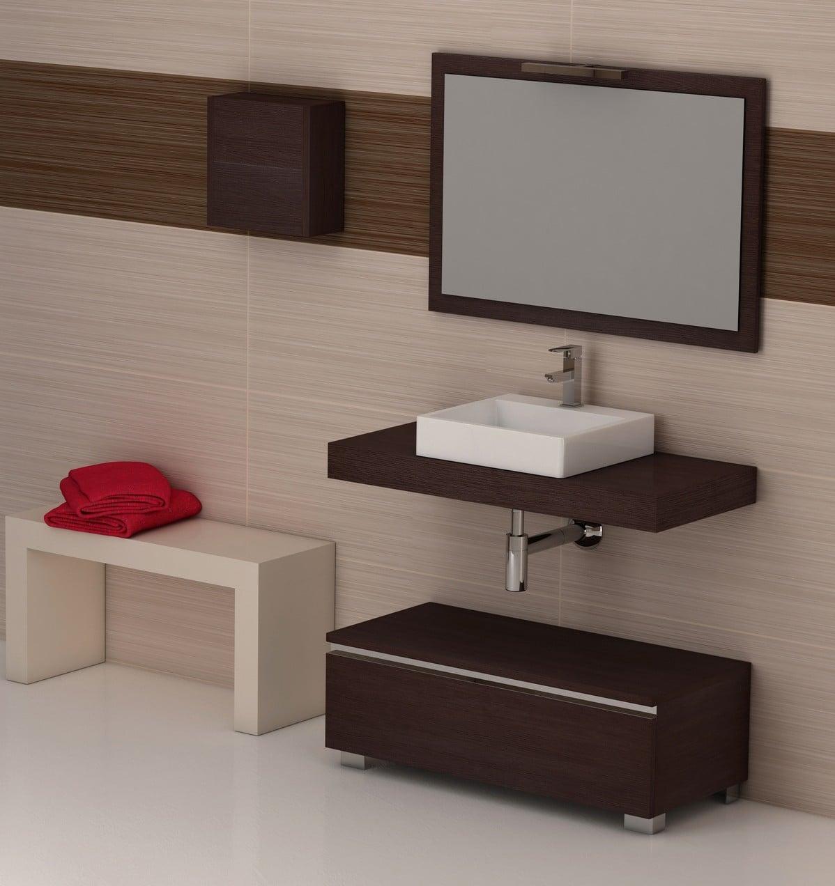 combinado con una repisa inferior con cestas o con cajones siempre hay quien prefiere este clsico de lavabo en encimera de madera