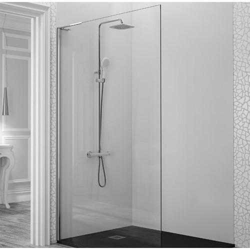 mampara para baño de cristal templado con ducha