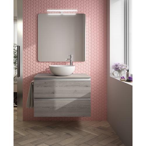 mueble de baño spirit color rosa pantone 2018 - Los colores para muebles de baño que serán tendencia en 2018