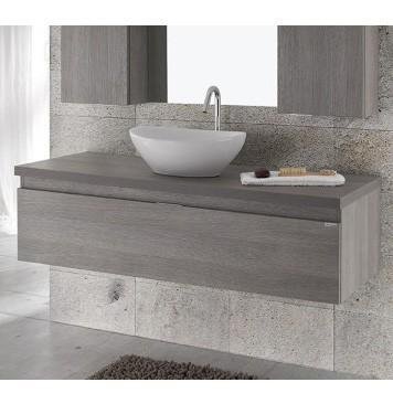 muebles de baño suspendidos acabado madera