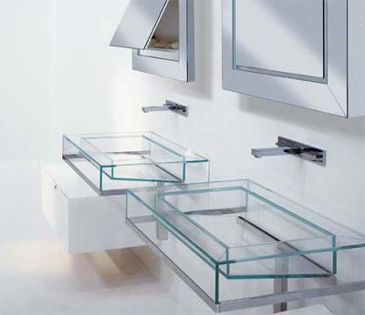 Lavabos de cristal en el ba o decoraci n de ba os - Lavabos de bano ...