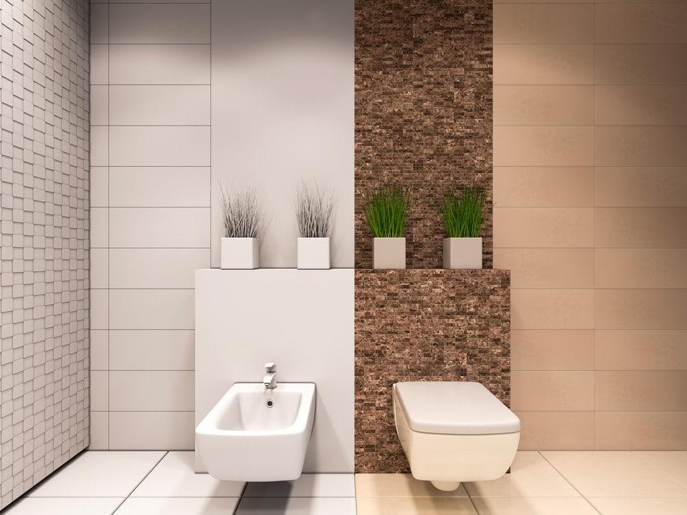 Ideas decoración baño dos ambientes plantas tendencias muebles