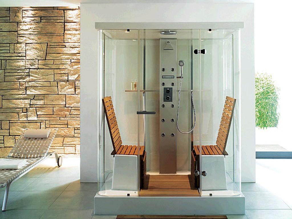 Beneficios de las columnas de ducha con hidromasaje - Ducha en la terraza ...