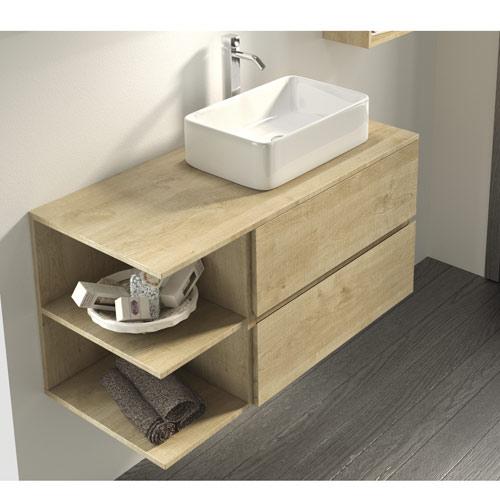 Los lavabos sobre encimera una elecci n ideal para el - Encimeras de madera para bano ...
