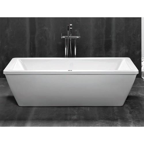 bañera blanca - DECORACIÓN DE BAÑOS