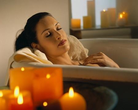 ideas para un baño romántico