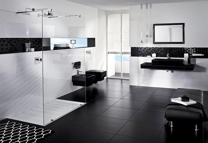 el color negro llega al baño | decoración de baños