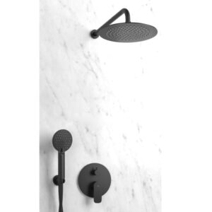 ducha empotrada negraroundmono 1 300x300 - Cómo instalar Duchas Empotradas?