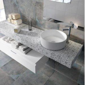 encimera de baño gris hidraulica 300x300 - ¿A que altura se coloca una encimera de baño?