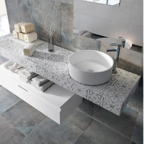 muebles de baño color gris madera