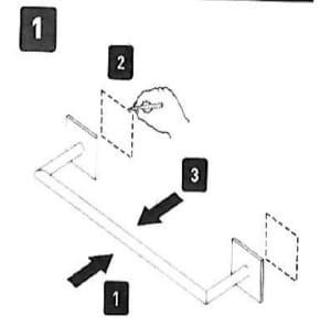 instrucciones1 300x297 - ¿Como colocar los Accesorios de baño Sin Taladro?