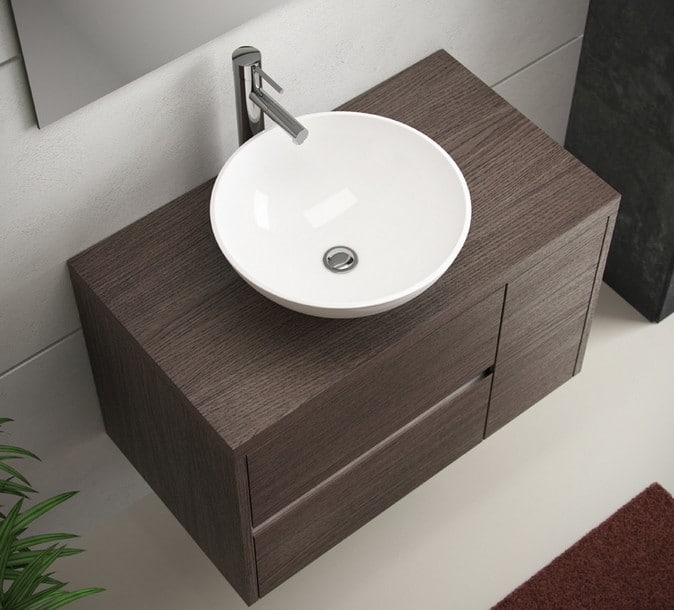 Lavabos Para Baños Cristal:Los lavabos sobre encimera, una elección ideal para el cuarto de