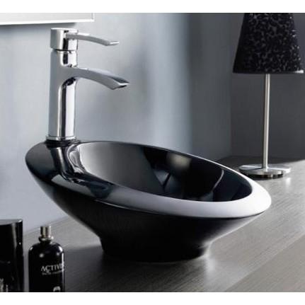 lavabo orbital negro - DECORACIÓN DE BAÑOS