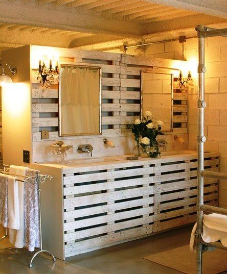Decoración de Baños » Muebles de baño hechos con palets