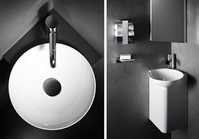 Ideas para cuartos de ba os peque os tbp for Mini lavabos baratos
