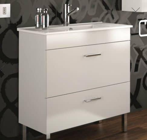mueble de baño blanco almagro - Trucos baratos para reformar el baño en pocos días y sin obras