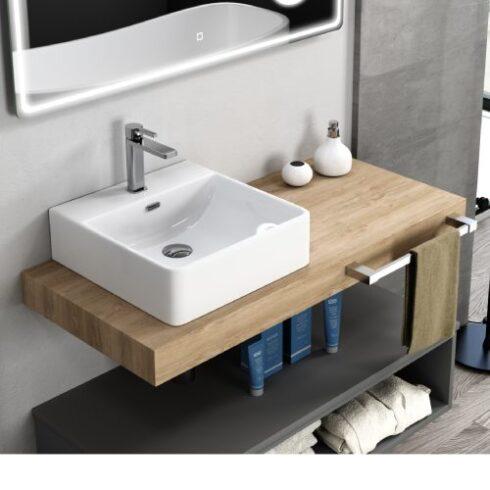Encimera de baño LIP roble