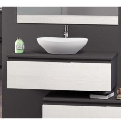 Mueble NEW SWEET Carcasa Gris Frente Roble Blanco