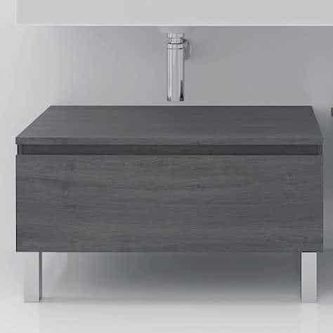 Mueble auxiliar de baño ELEMAD GRIS