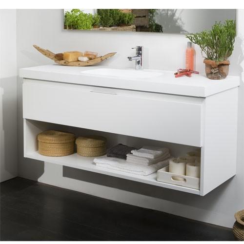 Mueble de Baño LINE abierto Blanco