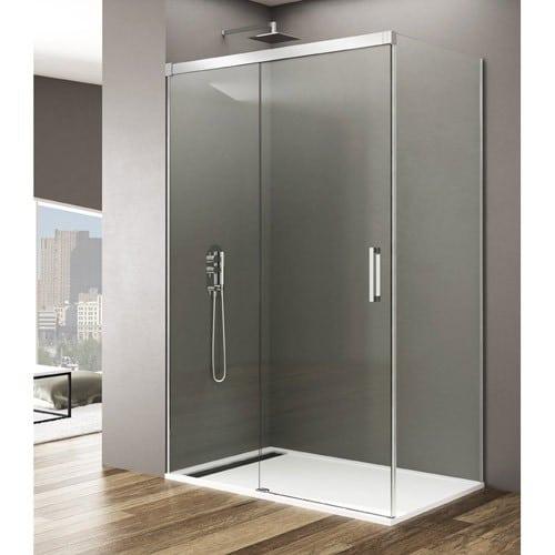 Mampara de ducha basic con lateral fijo