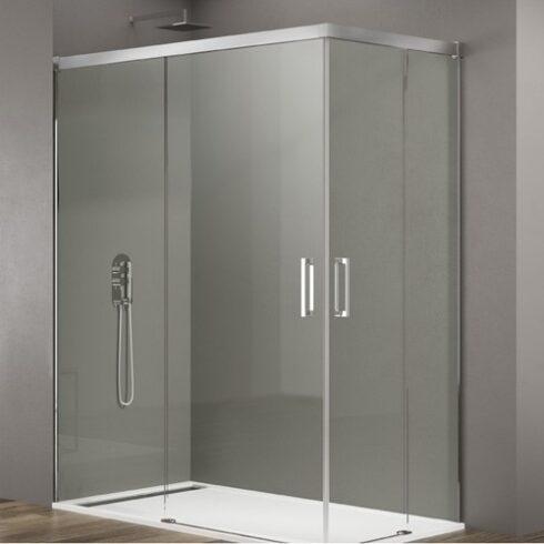 Mampara de ducha BASIC apertura por el vertice