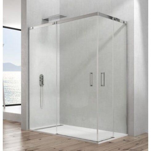 Mampara de ducha en acero inox TEMPLE Vertice