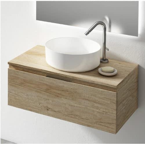 Mueble de baño sobre encimera Londres Olmo