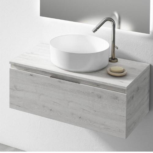 Mueble de baño minimalista Roble Blanco