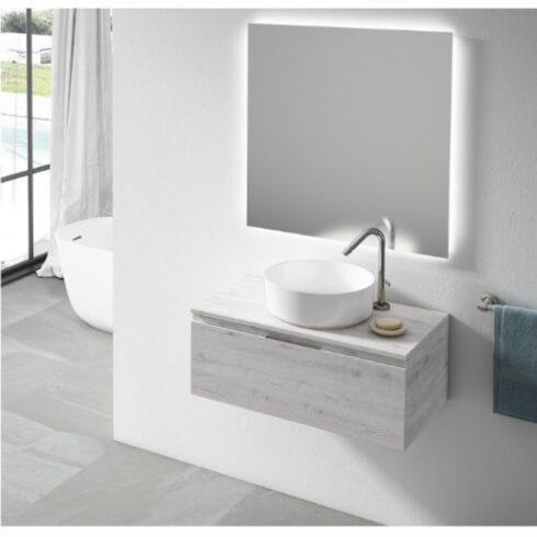 Mueble de Baño Londres 1 cajon Roble Blanco