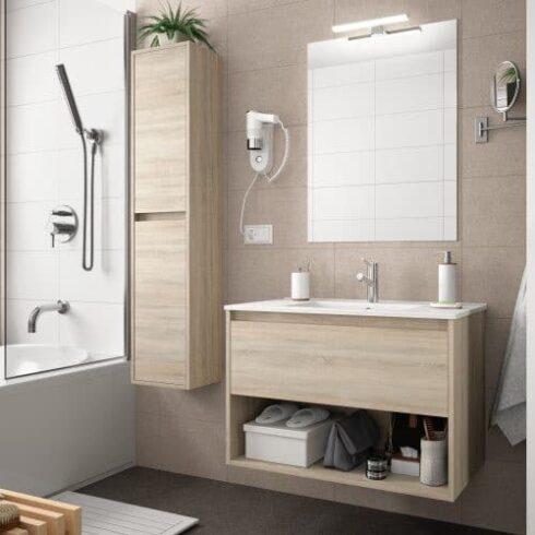 Mueble de baño NOJA ONE Roble