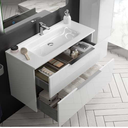 Mueble baño blanco Galsaky interior