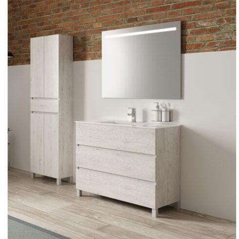 Mueble de baño roble blanco