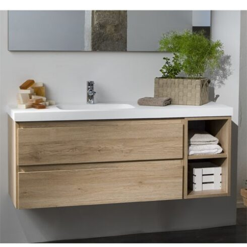 Mueble baño diseño LINE roble