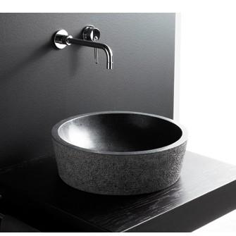 Lavabo de Piedra Dual negro