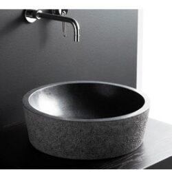 Lavabo Dual Negro de Piedra