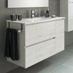 Mueble de baño Vintage roble blanco