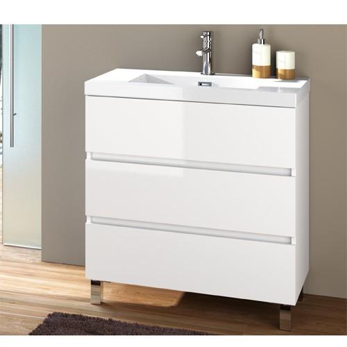 Mueble baño 3 cajones blanco Fussion