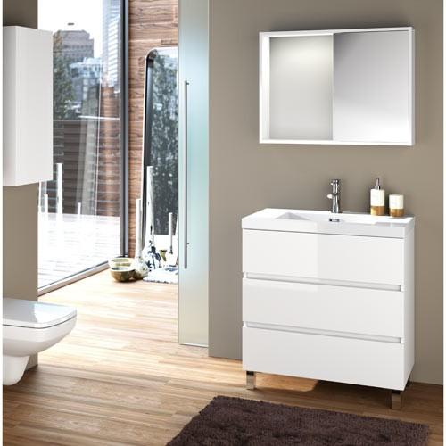 Mueble de baño con 3 cajones Fussion blanco