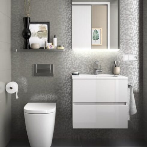Mueble de baño de diseño Blanco