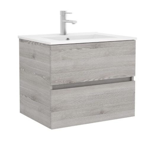 Mueble baño roble Gris Fussion
