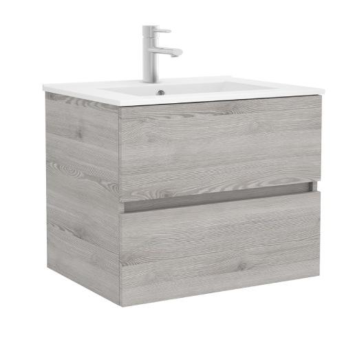 Mueble baño roble Gris Fussion