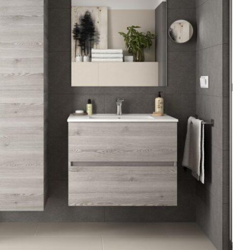 Mueble de baño roble gris Fussion