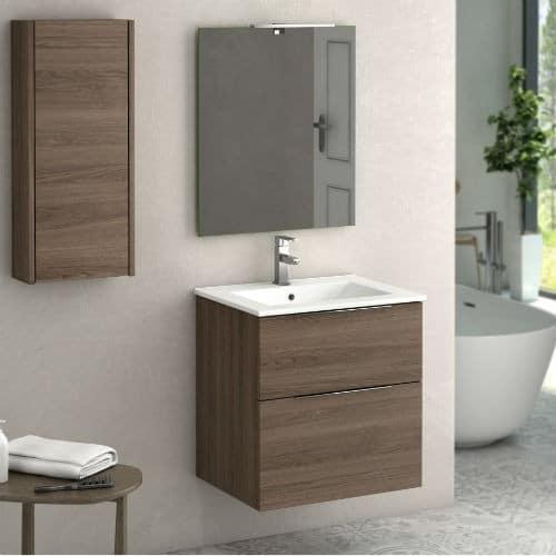 Mueble de baño de oferta galsaky Nogal
